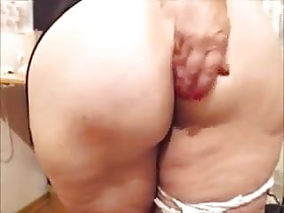 55 y.o fat ass mature teasing & masturbating - Part 2