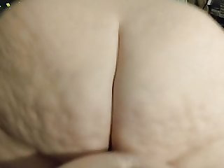 BBW rides me reverse cowgirl until I fill her with cum