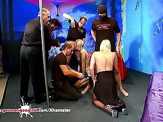 Stepmom and Daughter fucked side by side - German Goo Girls