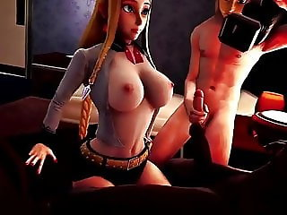 ZELDA GIVES A TITJOB TO A BBC