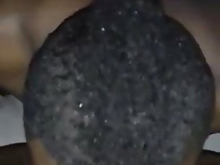 Ebony BBW squirts in boyfriend's face