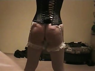 Caned in corset
