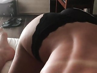 Wife and quick blowjob in a hotel room part 2