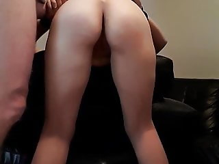Spanking and ass fucking doggie style