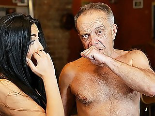 DADDY4K. Old owner of bar satisfies needs together with..