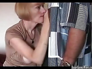 Big tit blonde amateur MILF creampied in homemade fuck video