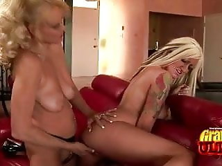 Grannies Lana And Natasha Strapon Fun
