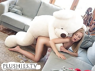 Sicilia playing strip sex pocker with a teddy bear Miguel