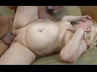 Blonde granny loves cock