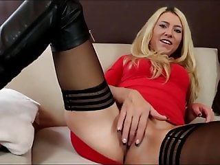 Sexy German Blonde Takes Hot Creampie