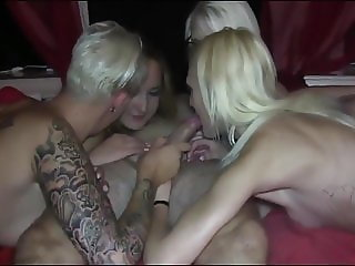 Four German Girls and Only ONE COCK