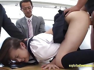 Makoto Takeuchi Fucked By Her Teachers Held Down They Fuck