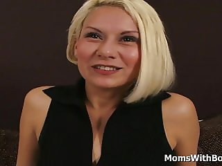 Blonde MILF Trying Out Porn With Young Cocks