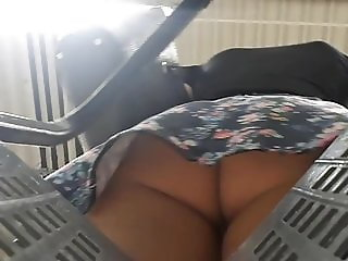 Upskirt in supermarket sexy young