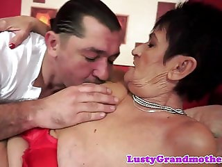 Bigass grandma orally pleasured and fucked