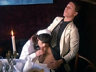 Maid Sucks His Cock