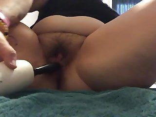 BBW Asian fucks her pussy and squirts