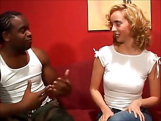 Young Kelly ruined by big black cock