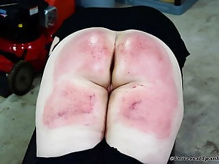 Strapped in the School Shed! (Spanking)