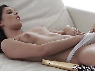 Cumcovered euro anally plowed by her lover