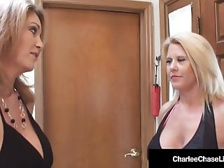 Busty Milf Charlee Chase Fucks Stripper With Husband!