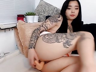Toying my pussy with new dildo