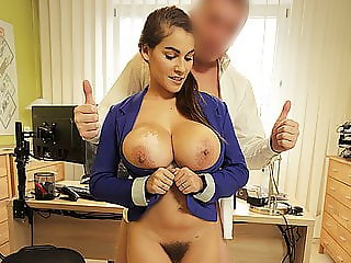 LOAN4K. Agent receives blowjob and titjob so gladly helps...