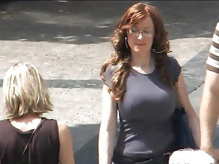 Big tits on the street - 003