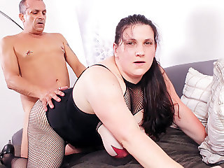 REIFE SWINGER - Tattooed BBW German amateur ass fucked hard