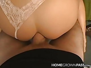 Handsome MILF receives facial after anal cock slamming