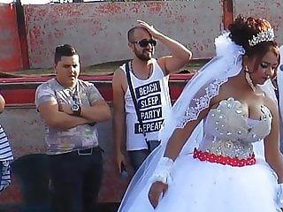 woman with huge breasts dancing