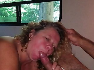 I love sucking his big fat cock