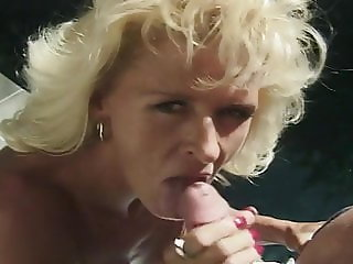 Busty mature Kristina St. James blowjob