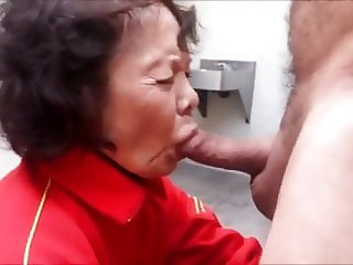 Asian Grandma Blowjob Handjob