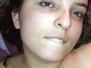 Cum in the mouth of my beauty girlfriend