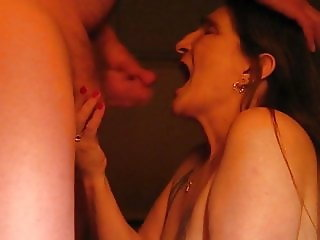 sucking my husbands cock and him jacing off in my mouth