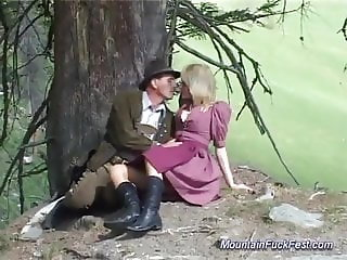 german mom rough anal fucked in the mountains