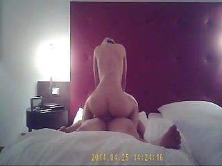 REAL public amateur fun in hotel spa and room
