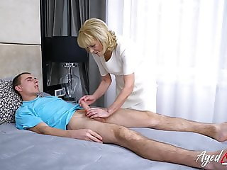 AgedLovE Granny Enjoys Attention of Horny Guy