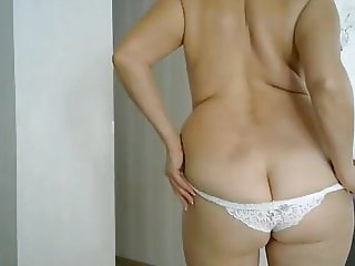 mommy in white panties