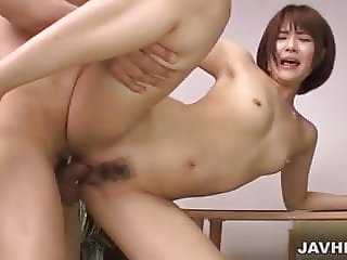 Saya Tachibana gets cock to stretch her bush in hardcore