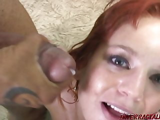 Engaged redhead cheats with huge black cock