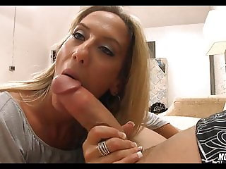 Horny Blonde Cougar is DTF