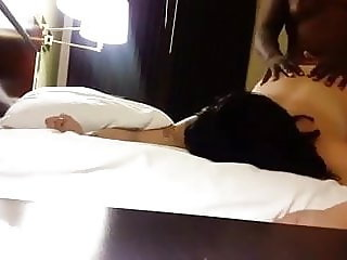 Vocal interracial sex tattooed white girl with black lover