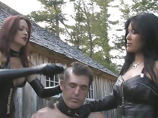 Outdoor slave humiliation