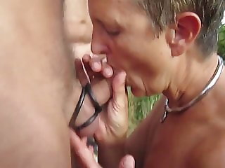 great noisy outdoor gangbang