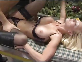 horny milf with big tits hard fucked and facialized