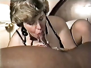 Collared Mature and Her Black Bull