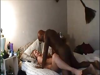 Hot blonde wife homemade interracial