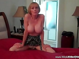 Double Cock Fantasy From Granny